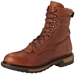 Rocky Men\'s Original Ride Lacer Pitstop Work Boot,Tan Pitstop,10 W US