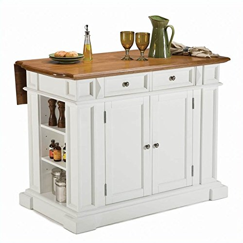 Home Styles 5002 94 Kitchen Island White And Distressed Oak Finish Furniture Carts Islands Islands