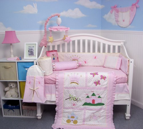 New Princess Story Baby Infant Crib Nursery Bedding 10 Pieces Set