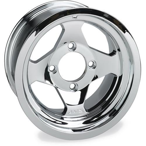 AMS Chrome Cast Aluminum Front Wheel - 12x7,