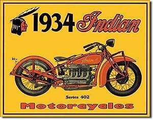 WMU - Tin Sign : 1934 Indian Motorcycles