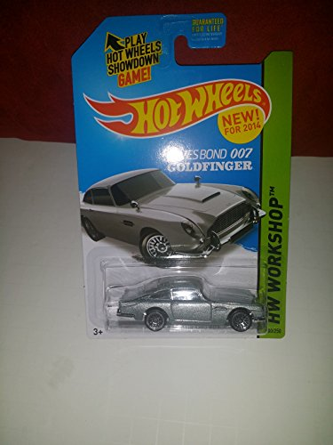 2014 Hot Wheels Hw Workshop 200/250 - James Bond 007 Goldfinger Aston Martin 1963 DB5 - [Ships in a Box!]