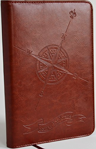 Faux Leather Lined Writing Journal with Extra Refill, Personal Diary