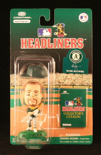 MARK MCGWIRE / OAKLAND A'S * 3 INCH * 1996 MLB Headliners Baseball Collector Figure