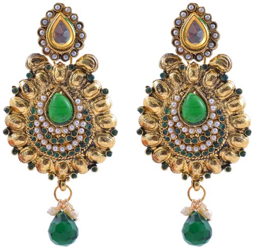 Niki Jewels Earring For women (Green) (003 32 1089)