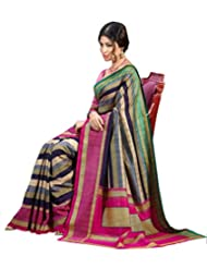 Abida Printed Multi Color Color Bhagalpuri Art Silk Saree - B00VG623ZC