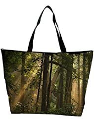 Snoogg Big Trees In Forest Designer Waterproof Bag Made Of High Strength Nylon