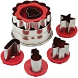 Cake Boss Decorating Tools Holiday Linzer Cookie Cutter Set, Red