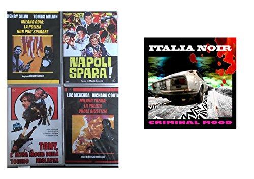 Offerta 4 DVD Film Polizieschi, Milano Odia, Milano Trema, Napoli Spara, Tony L'altra Faccia Della Torino Violenta Più CD Audio Italyan Noir
