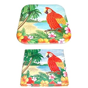 Click to buy Polynesian Parrot ~ Luau Party Pack ~ 14 Plates & 20 Napkinsfrom Amazon!