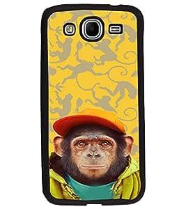 PrintDhaba Cute Monkey D-3653 Back Case Cover for SAMSUNG GALAXY MEGA 5.8 (Multi-Coloured)