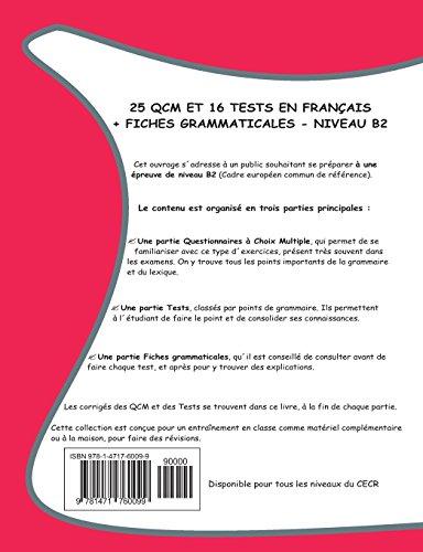 25 QCM et 16 TESTS en français, niveau B2