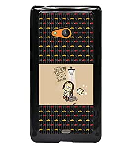 PrintDhaba Quote D-3001 Back Case Cover for MICROSOFT LUMIA 540 (Multi-Coloured)