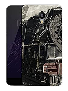 """Old Train Engine Printed Designer Mobile Back Cover For """"Google Infocus M2 Note"""" By Humor Gang (3D, Matte Finish, Premium Quality, Protective Snap On Slim Hard Phone Case, Multi Color)"""