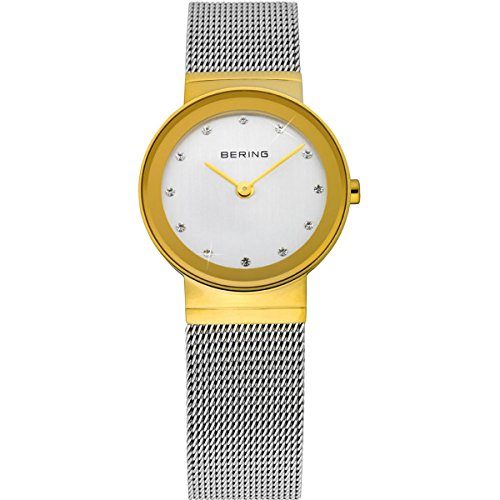 Bering Time Classic Women's Quartz Watch with Stainless Steel Strap - Silver
