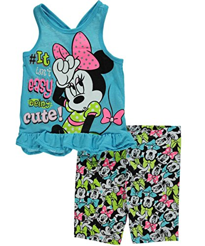 "Minnie Mouse Little Girls' Toddler ""It Isn't Easy"" 2-Piece Outfit - turquoise, 3t"