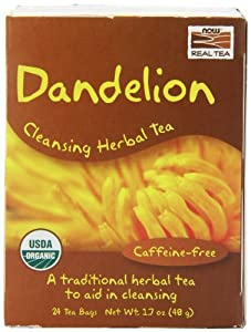 Now Foods Tea Bags, Dandelion, 24 Count