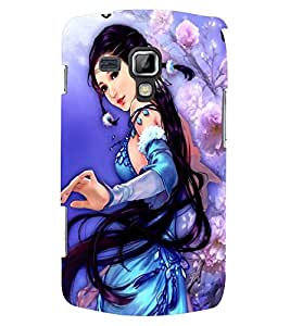 Printvisa A Girl In A Blue Dress Back Case Cover for Samsung Galaxy S Duos S7562