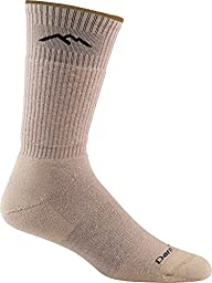 Darn Tough Vermont In-Town Series Men\'s Standard Issue Crew Socks Cushion, Tan, Medium