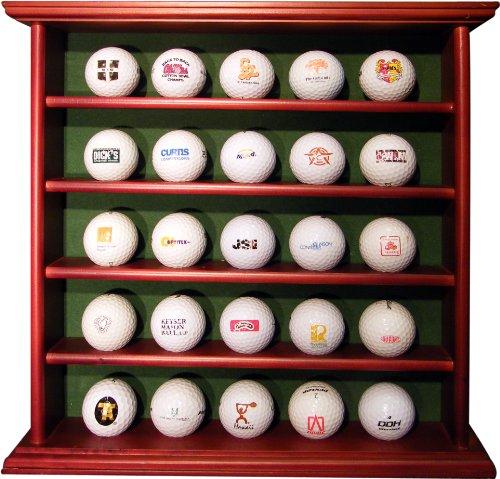 Longridge Uni Golfbälle Schaukasten Aus Holz 25, Braun