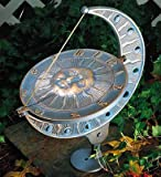 Lawn & Patio - Whitehall Verdigris Sun and Moon Sundial - 00562
