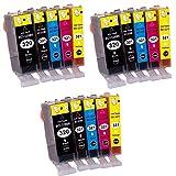 キヤノン 【BCI-320/321canon互換インク】5色セット×3パック(計15個入り)【ICチップ付】