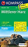 Mittlerer Harz: Wanderkarte mit Aktiv Guide und Radwegen. GPS-genau. 1:50000 (KOMPASS-Wanderkarten, Band 452)