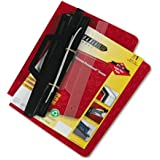 3-Hole Laser Printer Hanging Expandable Binder 8-1/2 x 11 Red