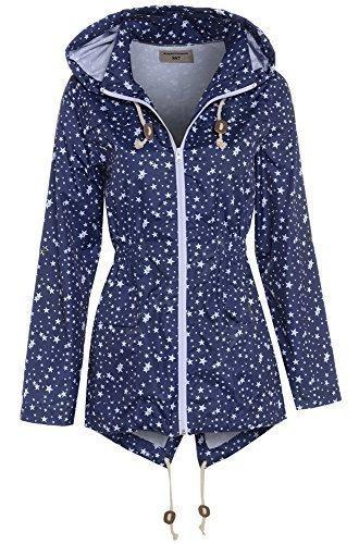 SS7 Women's Plus Size Star Raincoat 20 Navy Star