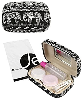 JAVOedge Elephant Print Contact Lens Carrying Case Travel Kit