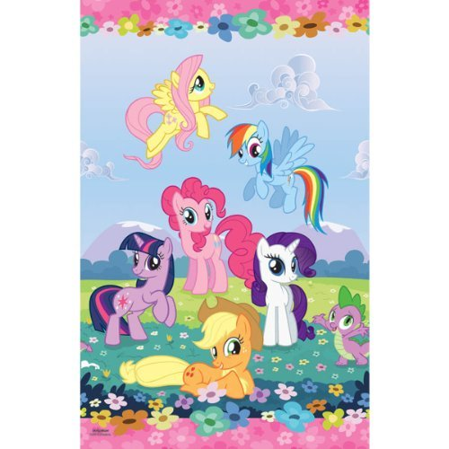 Amscan Mens My Little Pony Friendship Magic Paper Tablecover