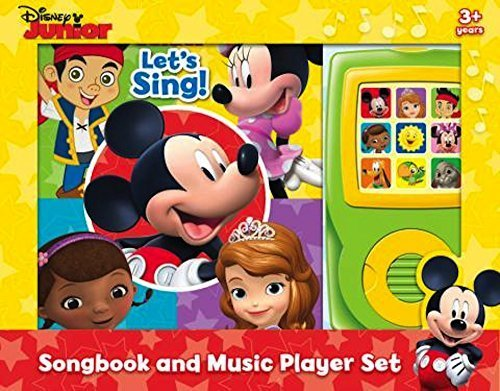 Disney Junior: Let's Sing Songbook and Music Player Set 15 Songs Mickey Mouse Doc McStuffins