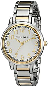 Anne Klein Women's AK/1911SVTT Easy To Read Two-Tone Expansion Band Watch