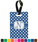 Polka Dots Personalized Rectangular Luggage Tag