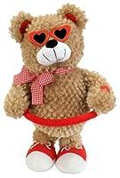"Chantilly Lane Sugar Pie Bear Sings ""Sugar Pie Honey Bunch"" 13"" Plush by Chantilly Lane"