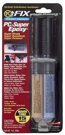 PC Products PC-SuperEpoxy Epoxy Adhesive Paste, 1 oz Double Syringe, Translucent
