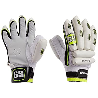SS Deluxe Boy's RH Batting Gloves (White)