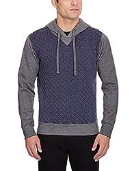 GAS Men's Polyester Sweatshirt (8059890961566_83867_Large_200-Black)