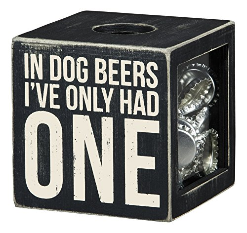 Primitives by Kathy in Dog Beers I've only Had One Cork and Cap Holder, Small (Dog Beer Holder compare prices)