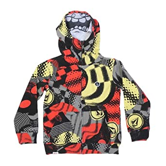 Volcom - Kids Maguro Face Hoodie, Size: X-Large, Color: Grey