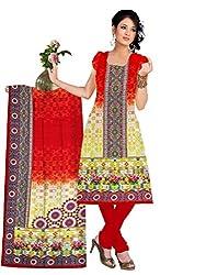 BalajiWomen's Crepe Unstitched dress material(103-multicolor-free size)