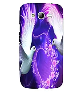 ColourCraft Lovely Pigeons Design Back Case Cover for SAMSUNG GALAXY GRAND NEO PLUS I9060I