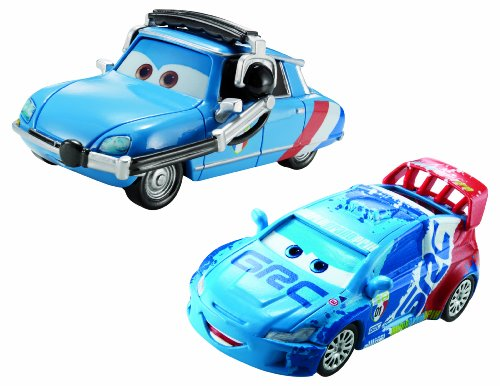 Disney/Pixar Cars Raoul Caroule and Bruno Motoreau Diecast Vehicle, 2-Pack
