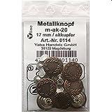 8 St. Metallknöpfe / Jeansknöpfe 17 mm altkupfer nähfrei...