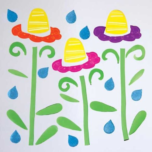 GelGems Flowers & Raindrops Large Bag Gel Clings - 1