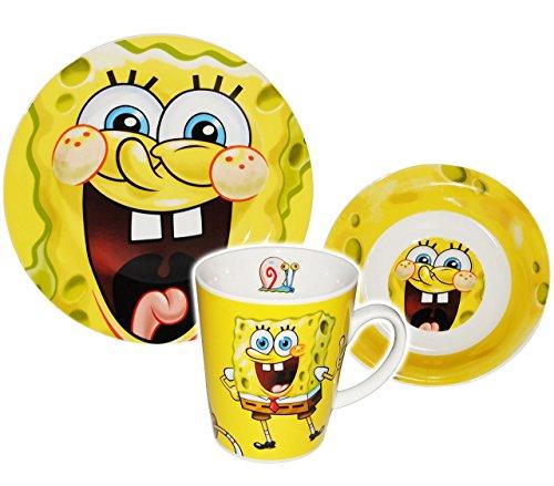 3-tlg-Geschirrset-Spongebob-Schwammkopf-Porzellan-Trinktasse-Teller-Mslischale-Kindergeschirr-Keramik-Frhstcksset-fr-Kinder-Mdchen-Jungen-Robert-Fische-Patrick-Star-Comic-Figuren-Frhstcksgeschirr-Gesc