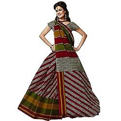 Radhika Sarees MultiColoured Cotton Printed Fashion Saree With Blouse Piece