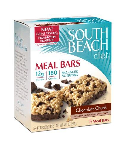 South Beach Diet Meal Bar, Chocolate Chunk, 1.76 Ounce, 5 Count