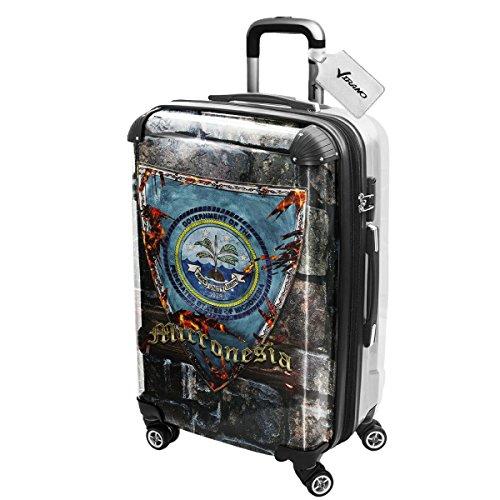 Stemma Micronesia, Luggage Valigia Bagaglio Ultraleggero Trasportabile Rigido con 4 Route e Disegno Intercambiabile. Dimensione: Grande, L