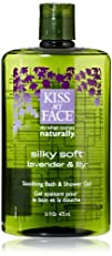 Kiss My Face Silky Soft Soothing Bath & Shower Gel, lavender & lily 16-Ounce Bottles (Pack…